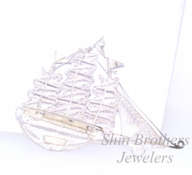 Sterling Silver Sail Boat Pin 80000579