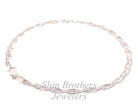 "Sterling Silver 9"" Fancy Anklet 80000292"
