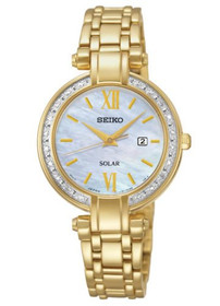 Seiko Watch - Women's Solar Gold Tone Stainless Steel - SUT182 61100497