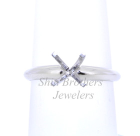 Platinum Four Prong Engagement Setting Ring