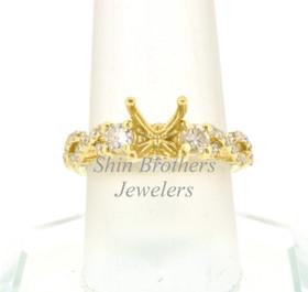 18K Yellow Gold Diamond Setting  11005019