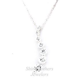 "Sterling Silver 18"" Cz Journey Necklace 83010507"