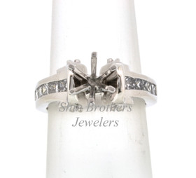 14K White Gold Diamond 0.50ctw Engagement Ring Setting