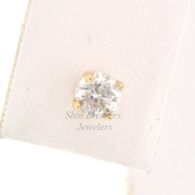 14K Yellow Gold Diamond Single Earring With Screw Back 41002001