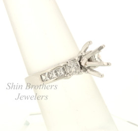 14k White Gold 1.0 ct Diamond Setting