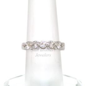14K White Gold Diamond Wedding Band  11005110