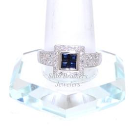 14K White Gold Sapphire/Diamond Ring 12002425