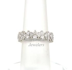 14K White Gold Diamond Wedding Band 11000531