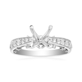 18K White Gold 0.88 ct Diamond Engagement Ring Setting