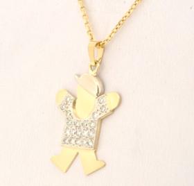 14K Yellow Gold Diamond Boy Charm 51001691