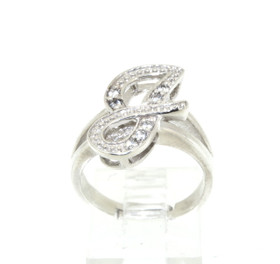 Sterling Silver CZ J Initial Ring 81010392
