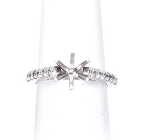 14K White Gold 0.72 ct  Diamond Engagement Ring Setting