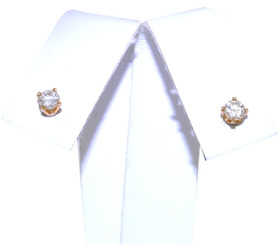14K Yellow Gold Diamond Push Back Earrings  41002053