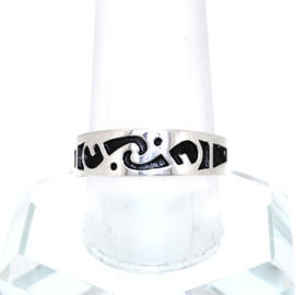 Sterling Silver Fancy Enamel Wedding Band 81010409
