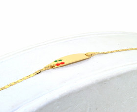 14K Yellow Gold Baby ID Cherry Bracelet 20001329