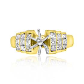 18K Yellow Gold 1.03ct Diamond Engagement Ring Setting