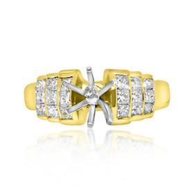 18K Yellow Gold 1.03ct Diamond Engagement Ring Setting