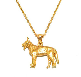 14K Yellow Gold German Shepherd Dog Charm 50003006