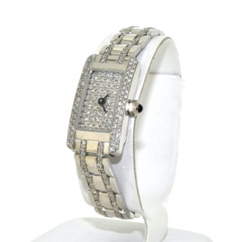 14k White Gold Diamond Geneva Ladies Fancy Watch 61000050