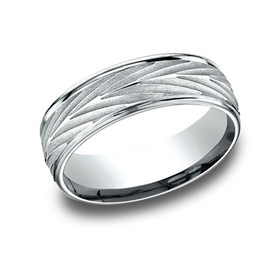 14K White Gold 7mm Wedding Band 10017099
