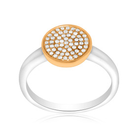 14K Two Tone Gold Diamond Ring 11005222