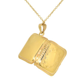 14K Yellow Gold Rectangular Locket Pendant 50003051