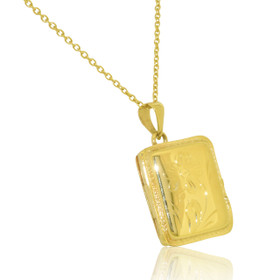 14K Yellow Gold Rectangular Locket Pendant 50003059