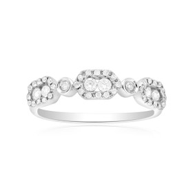 18K White Gold Diamond Wedding Band 11005305
