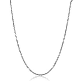 """14K White Gold 18"""" Cable Chain 30002339"""