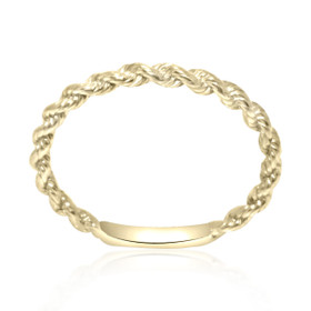 14K Yellow Gold Twisted Knuckle Ring 10017103