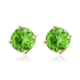 14K Yellow Gold Peridot Stud Earrings 42000540