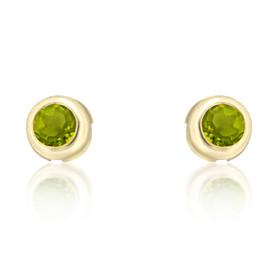 14K Yellow Gold Peridot Earrings 42000223