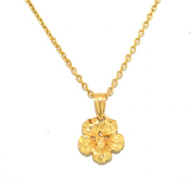 14k Yellow Gold Flower Charm 50001630