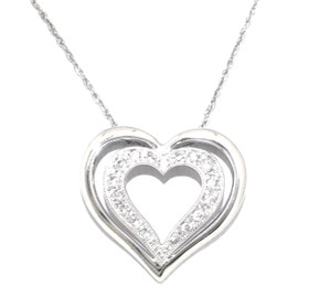 14K White Gold Diamond Heart Charm 51001739