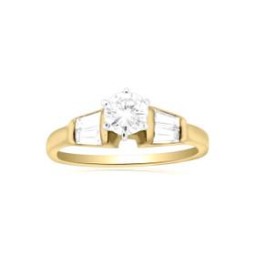 14K Yellow Gold Diamond Engagement Ring 11005266