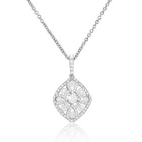18K White Gold Fancy Diamond Necklace