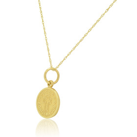 14K Yellow Gold Confirmation Medal