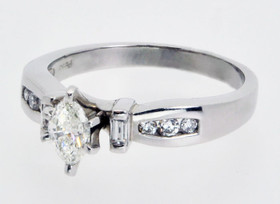 Platinum 0.40ct Marquis Diamond Engagement Ring 11000392