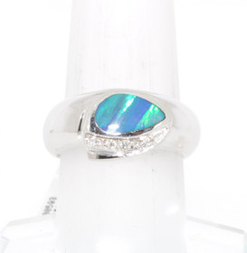 14K Yellow Gold Mosaic Opal Ring 12002525