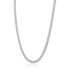 14K White Gold Cubin Chain 30002479