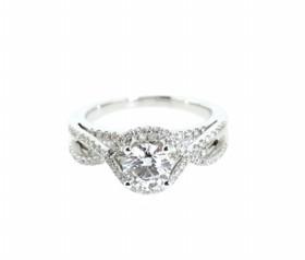 18K White Gold GIA Certified Diamond Engagement Ring 11005393
