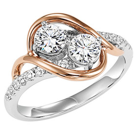 14K White and Yellow Gold Twogether Diamond Ring TWO3005/50