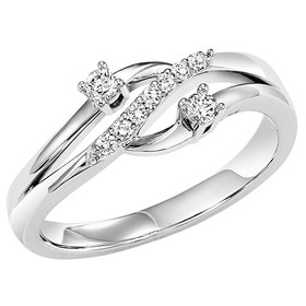 14K White Gold Twogether Diamond Ring TWO3011