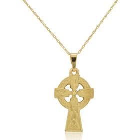 10K Yellow Gold Celtic Cross Charm