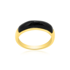 14K Yellow Gold Onyx Band  12000168