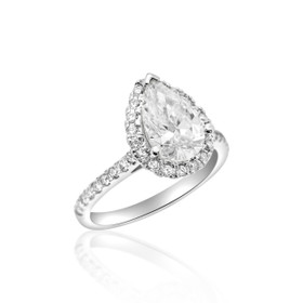 14k White Gold GIA Certified Diamond Engagement Ring 11005396