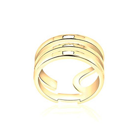 14k Yellow Gold Adjustable Layered Ring
