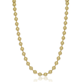 14K Yellow Gold High Polish Ball Chain
