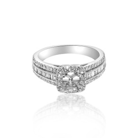 14K White Gold Diamond Engagement Ring Setting 11005221