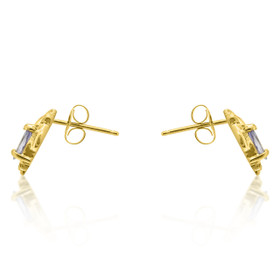 10K Yellow Gold Tanzanite Diamond Earrings 49210034